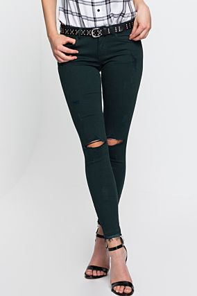 Dark Green Skinny Trousers