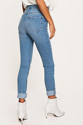 Denim Blue High Waist Jeans