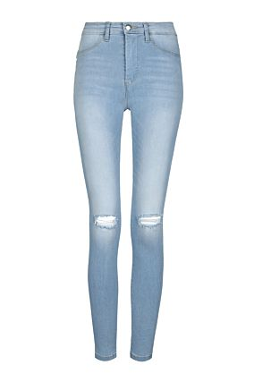 Light Blue High Waist Push-Up Jeans