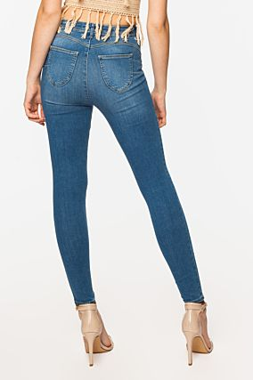 Blue Push-Up Stone Wash Jeans
