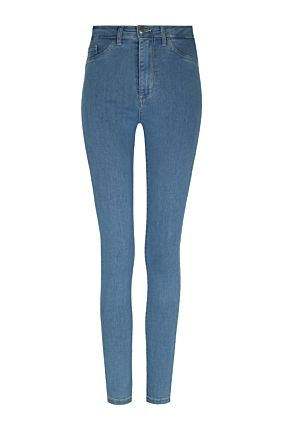 Hellblaue High-Waist Jeans