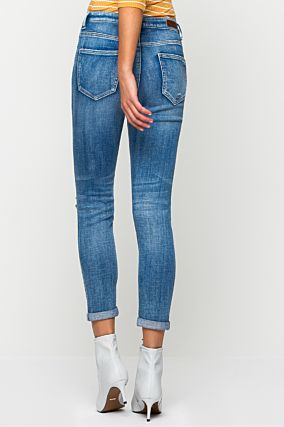 Blue High Waist Slim Jeans