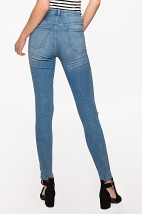 Hellblaues Destroyed Jeans