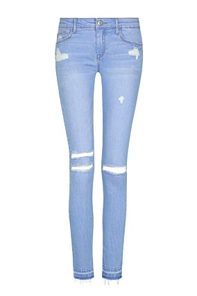 Light Blue Raw Cut Jeans