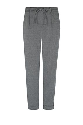 Grey and Black Tapered Trousers