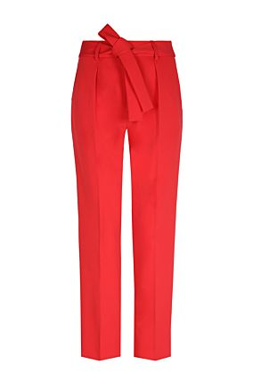 Red Trousers with Tie Waist