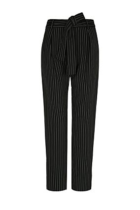 Black Striped Trousers