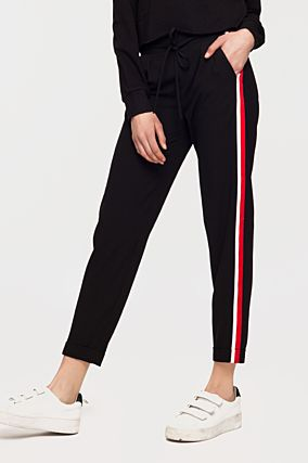 Black Trousers with Side Bands