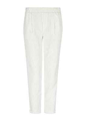 White Pinstripe Trousers