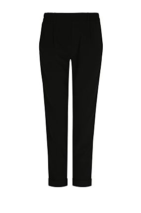 Black Trousers with Side Stripes
