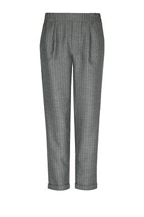 Grey Pinstripe Cigarette Trousers