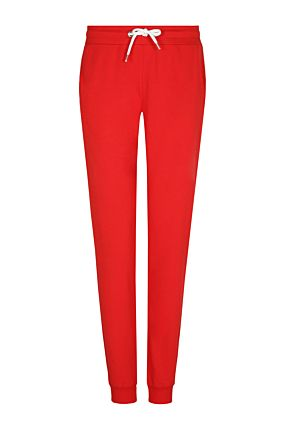 Red Joggers with Side Stipe