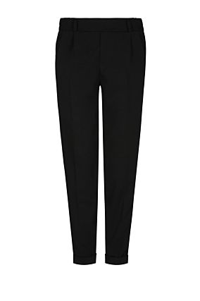 Cigarette Trousers with Green Stripe
