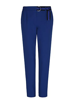 Blue Trousers with Belt