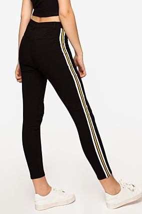 Skinny Trousers with Side Stripe