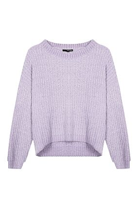Lilac Chenille Jumper with Silver Hem