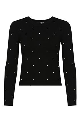 Black Polka Dot Pullover
