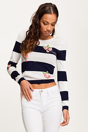 Dark Blue Striped Jumper