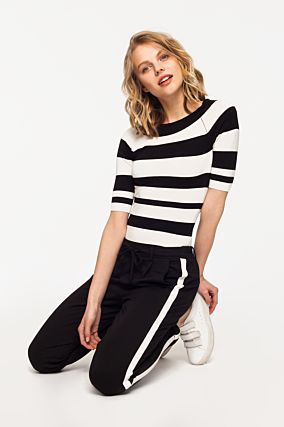 Black and White Stripped Jumper