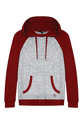 Red and Grey Hoodie