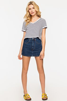 Blauer Denim Skort