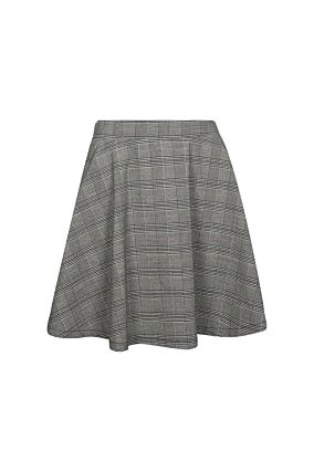 Grey Side Stripes Skirt