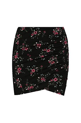 Floral Asymmetric Skirt