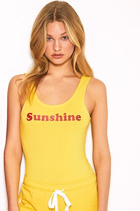 Body Jaune Imprimé Sunshine