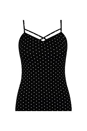Black Polka Dot Tank Top