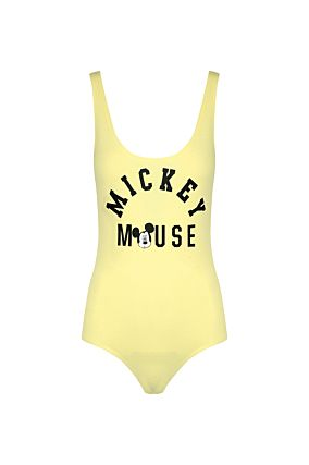 Body Giallo con Slogan Mickey