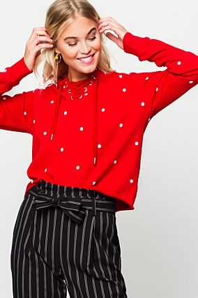 Red Polka Dots Sweatshirt