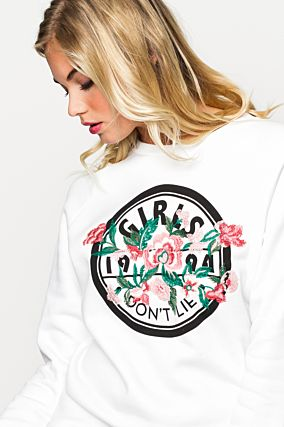 Printed White Sweatshirt