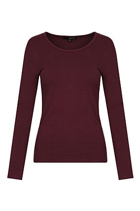 Burgundy Basic Top
