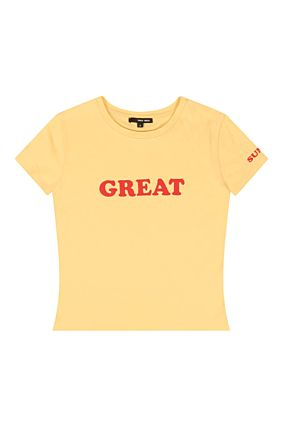 "T-Shirt Jaune ""Great"""
