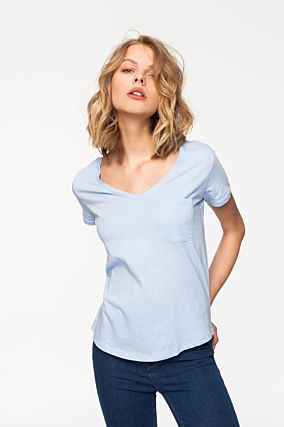 Blue Basic Top