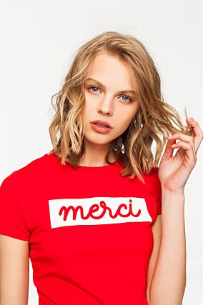 Red T-Shirt with Print