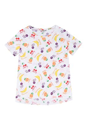 White Top with Fruit Print