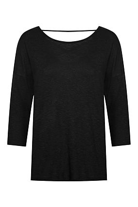 Black Basic Loose Top
