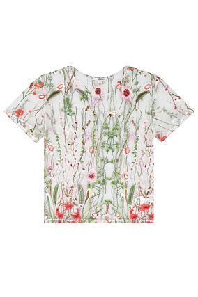 Floral Embroidered T-Shirt