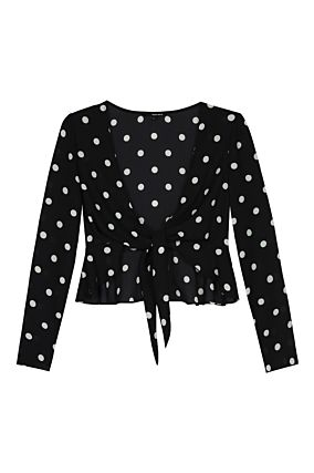 Black Polka Dot Bolero