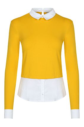 Yellow Top with Shirt