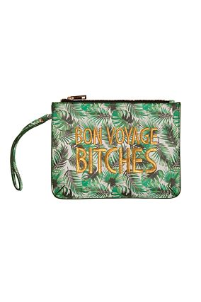 CLUTCH WITH PALM PRINT XX OS