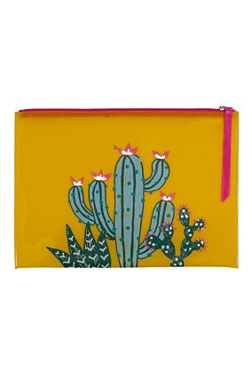 Yellow Cactus Pouch