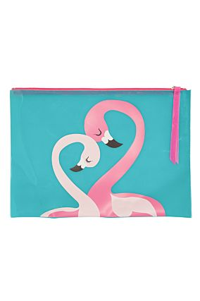 Blue Flamingo Pouch