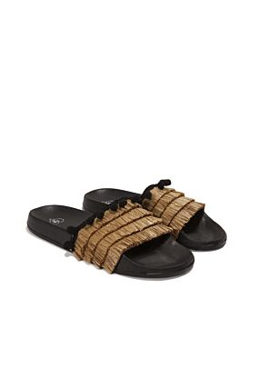 Straw Fringe Sliders