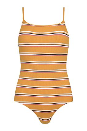 Yellow Bodysuit in Stripe