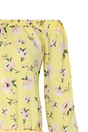 Yellow Floral Playsuit