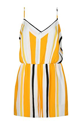 Yellow Striped Playsuit
