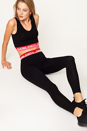 Leggings Neri con Slogan