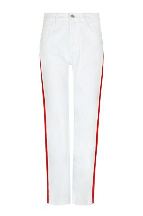 White Side Stripes Vintage Trousers
